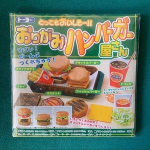 Japanese fast food origami kit DIY burger & fries